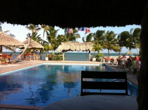 As seen from the pool!